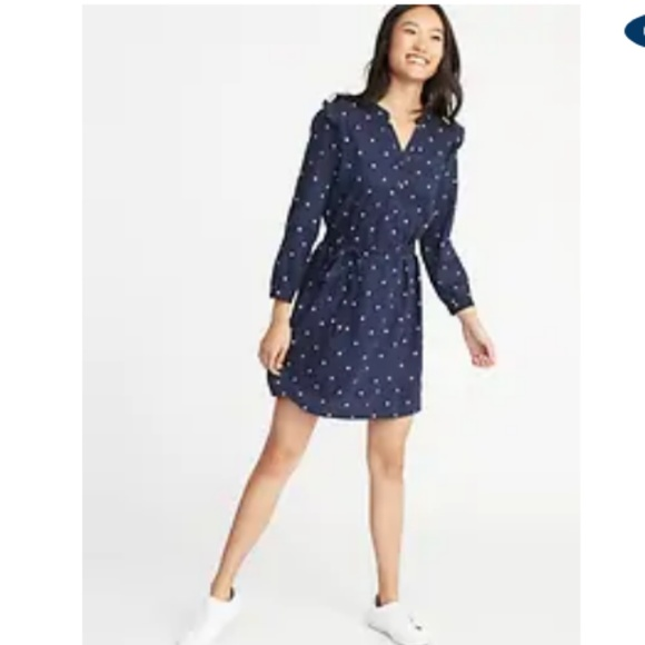 Old Navy Dresses & Skirts - 2/$20 Old Navy Ruffled Sleeve Polka Dot with Belt